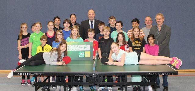 Gruppenfoto VfR Weddel - Tischtennis Jugend - PSD Bank